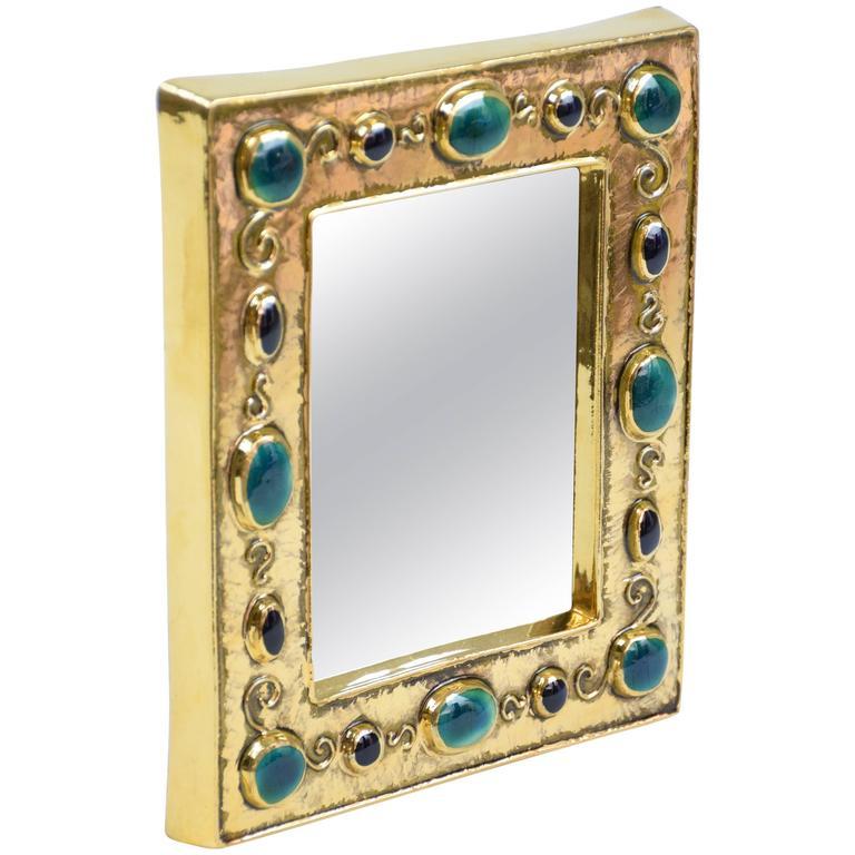 François Lembo Mid-Century Jewels Mirror, 1960's
