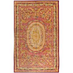 Gorgeously Woven Spanish Savonnerie Style Rug
