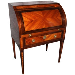 18th Century Louis XVI Roll Top Secretaire