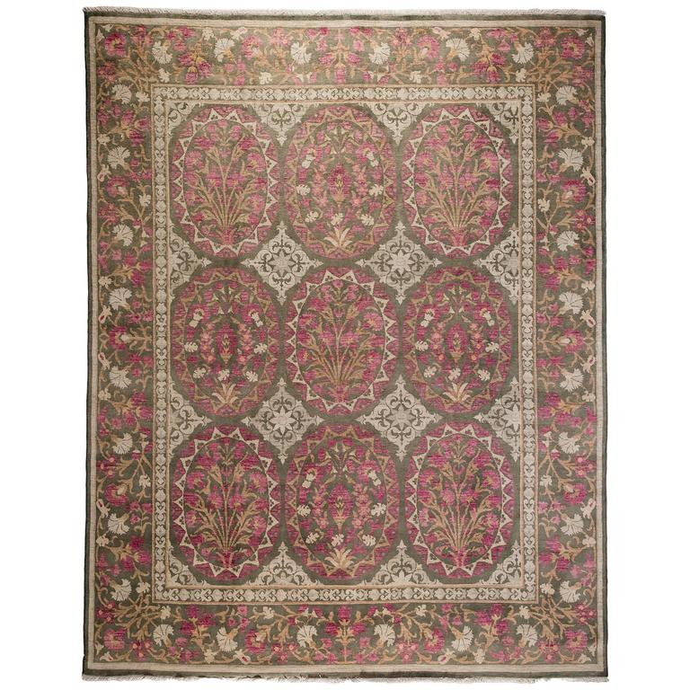 Pink Oushak Area Rug For Sale At 1stdibs