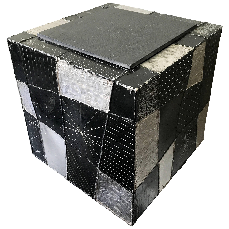 Paul Evans Argente Cube Table Model PE37