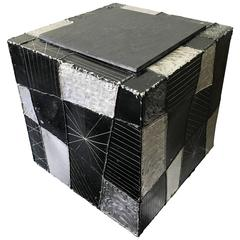 Paul Evans Argente Cube Table Model PE37