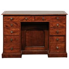 19th Century English Mahogany Knee-Hole Desk