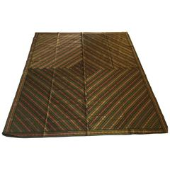 Green Bed Cover Patchwork from India