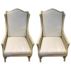 Pair of Ficks & Reed 1960s Bamboo and Cane Armchairs