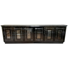 Custom Quality Palatial Hollywood Regency All Mirrored Sideboard Cabinet