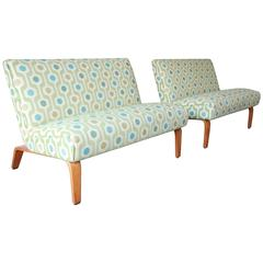 Pair of Mid-Century Modern Bentwood Settees by Thonet