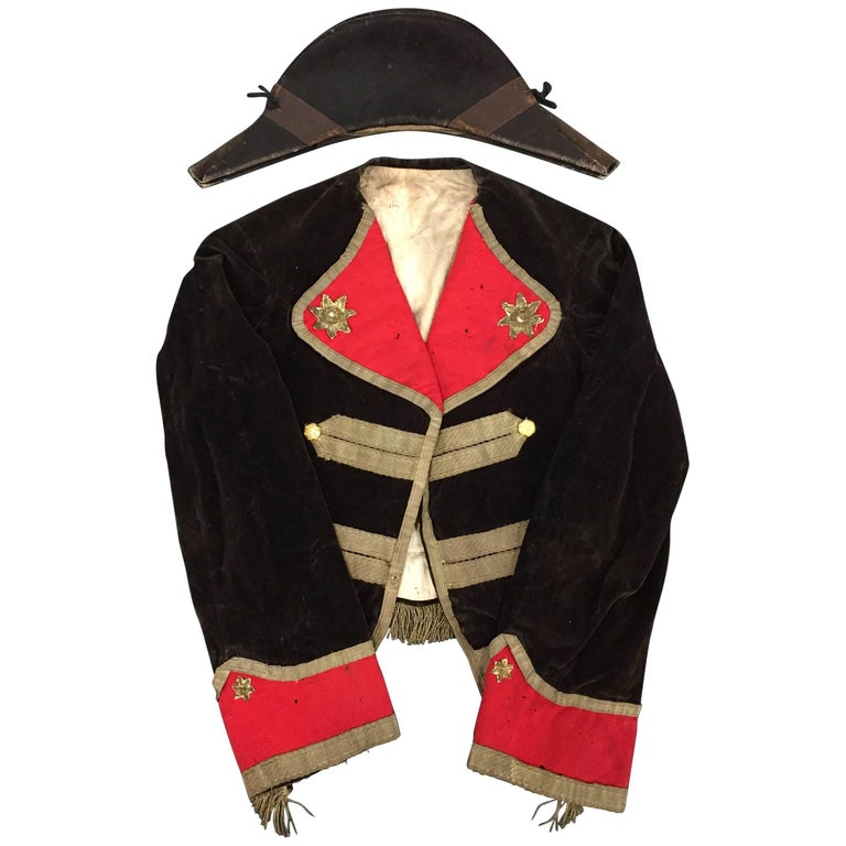 399d14822f4 Scarce American War of 1812 Uniform and Bicorn Hat at 1stdibs