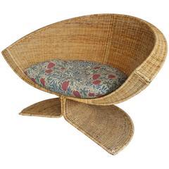 "Rare Danny Ho Fong ""Lotus"" Lounge Chair"