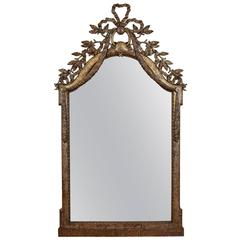 Exceptional Italian, Parma, Carved and Silvered Wooden Mirror, circa 1780