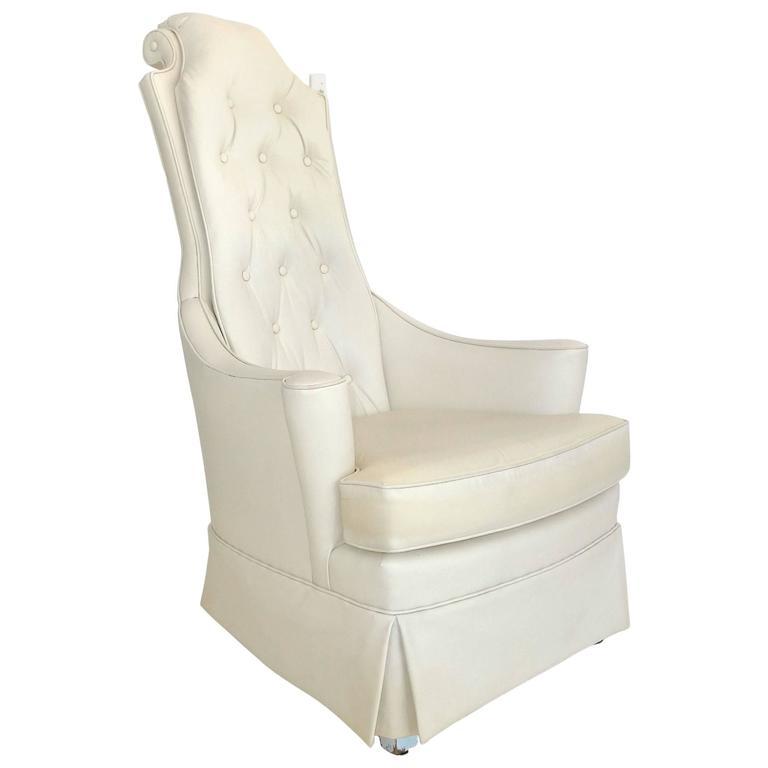 Hollywood Regency High Back Lounge Chair