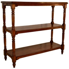 19th Century English Oak Haberdashery Shelf
