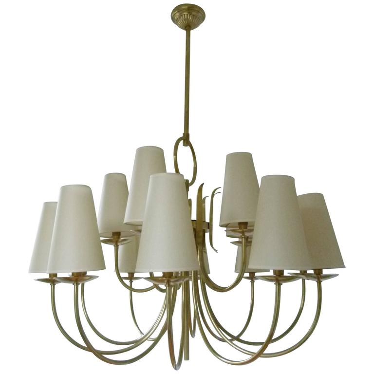1950s French Chandeliers, circa 1950 1
