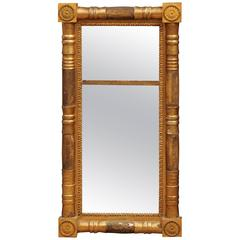 Late 19th Century Federal Style Gilt-Wood Mirror