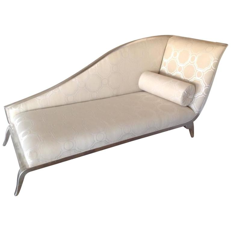 French Art Deco Style Silver Gilt Sleigh Back Recamier 1