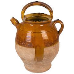 French Terracotta Vinaigrier or Vinegar Pot