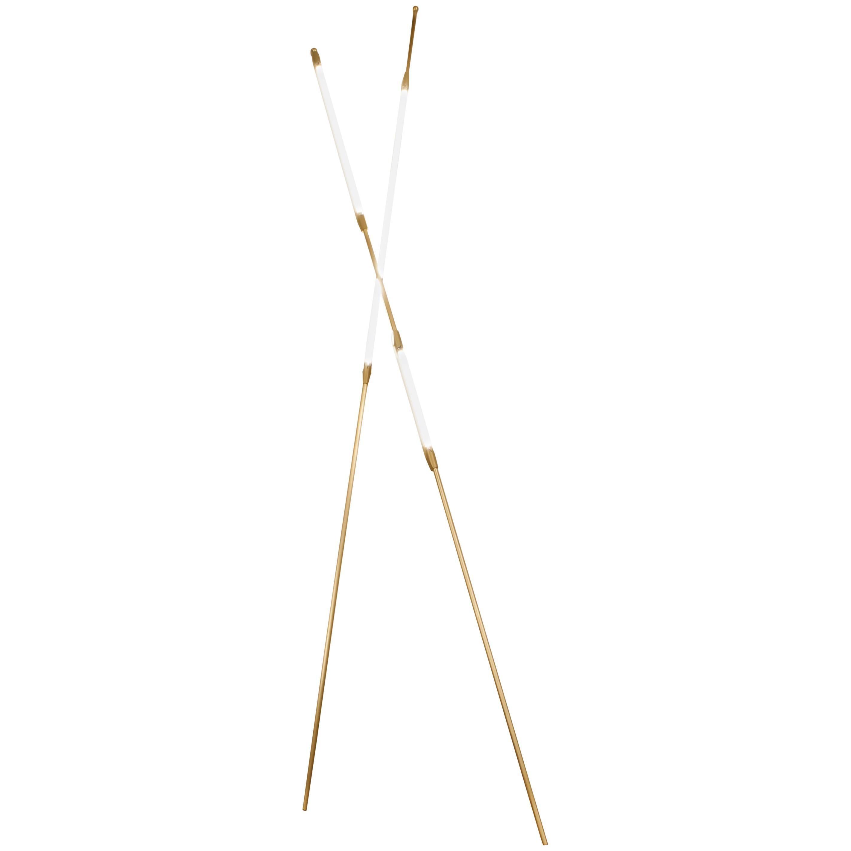 Bec Brittain Shy Beam Pair, Brass LED Floor Lamp