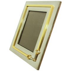 1970s Signed Gucci Horsebit Picture Frame
