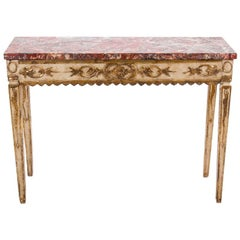 18th Century Italian Neoclassical Parcel Gilt Console