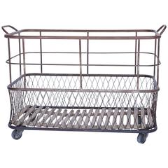 Industrial Linen Cart from France