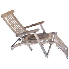 Antique Wooden Deck Chair