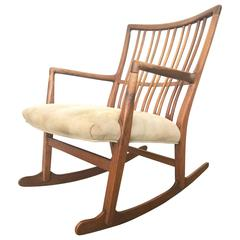 Rare Hans Wegner Rocker for Mikael Laursen, 1942-1944