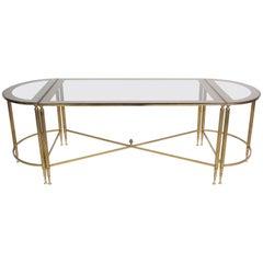 Jansen Style Three-Piece Bronze Coffee Table
