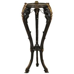 Wood and Bronze 19th Century Neo Renaissance Tripod, Italy