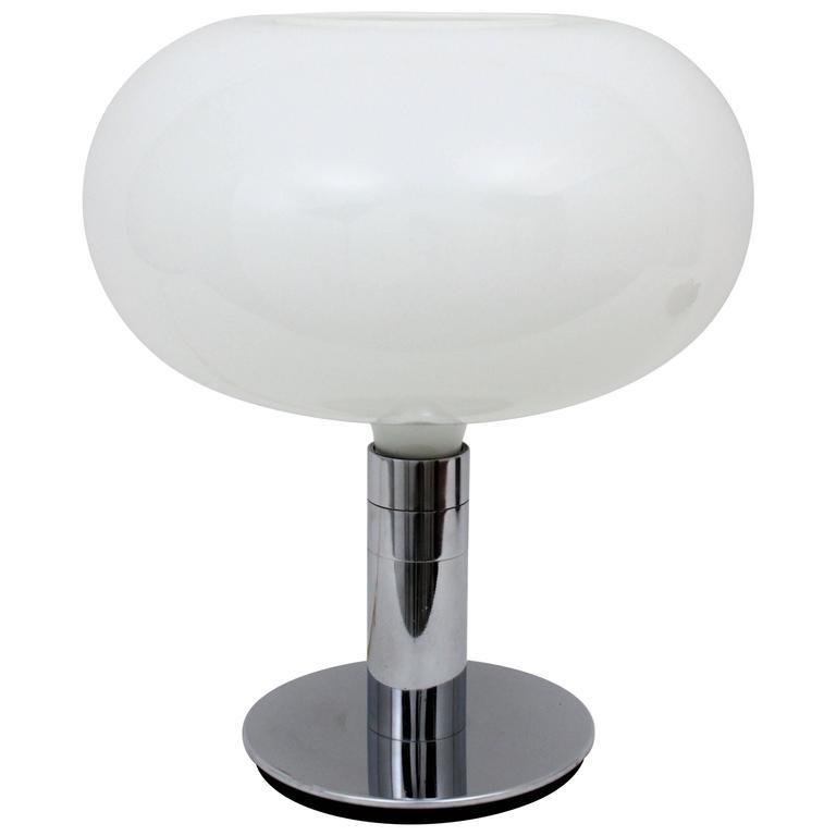 Franco Albini & Franca Helg for Sirrah Chromed and Glass AM/AS Table Lamp
