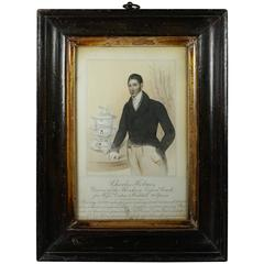 19th Century Gentleman Engraving Print Charles Holmes Georgian English Coaching