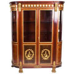 """Vintage Louis Revival Ormolu Mounted Vitrine Display Cabinet by """"Mariner 1893"""""""