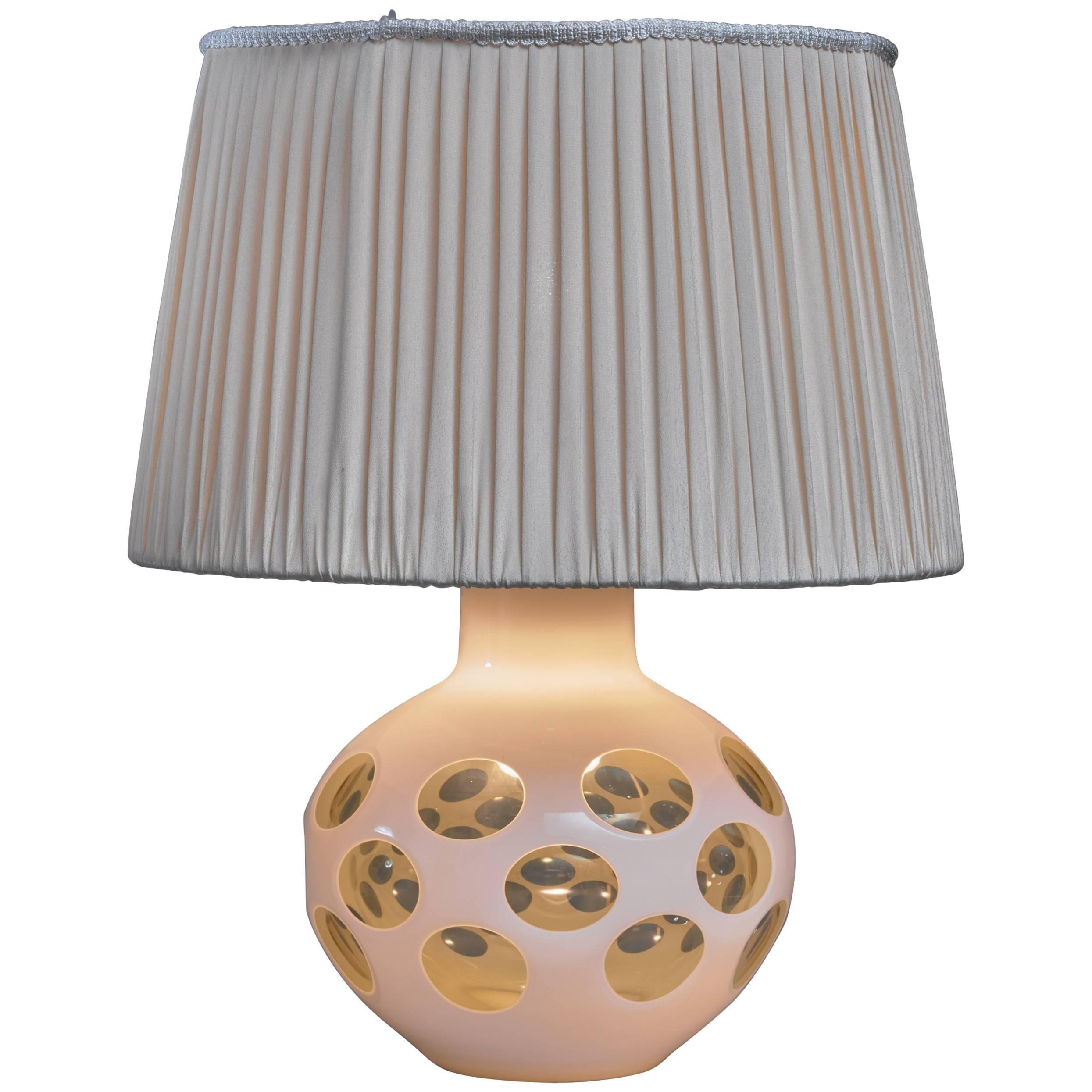 Carlo Nason Glass Table Lamp for Mazzega, Italy, 1970s