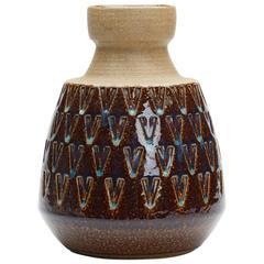 Vintage Scandinavian Soholm Bornholm Art Pottery Vase E. Johansen, circa 1958