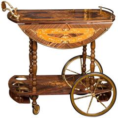 High Quality Italian Service Trolley in Baroque Style