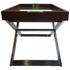 Very Rich Luxurious Ralph Lauren Tray Table On Stand Or Cocktail Table