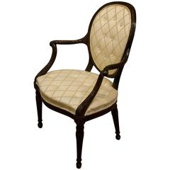 Mahogany Hepplewhite Elbow Chair