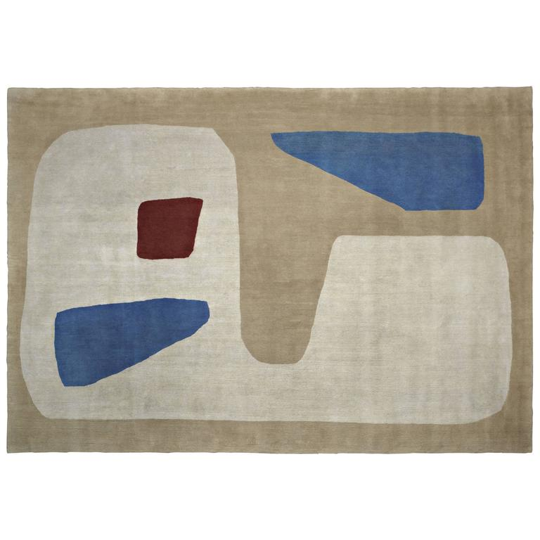 Iosaghini, Hand-Knotted Rug in Wool, Designed for Nodus by Massimo Iosa Ghini
