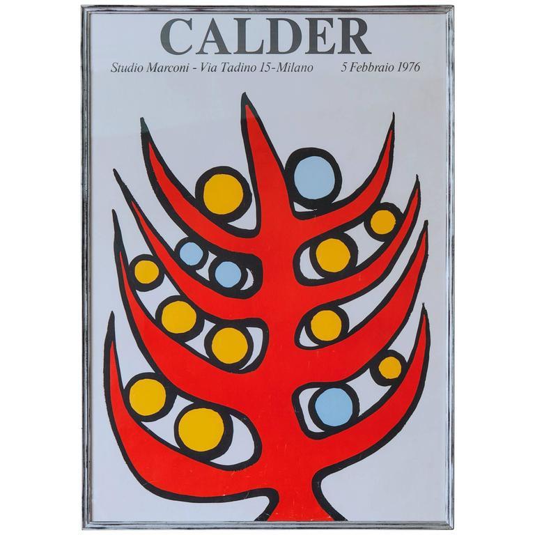 Vintage Alexander Calder Exhibition Poster 1