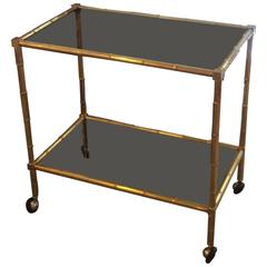 Italian Brass Bar Cart Gabriella Crespi, 1960