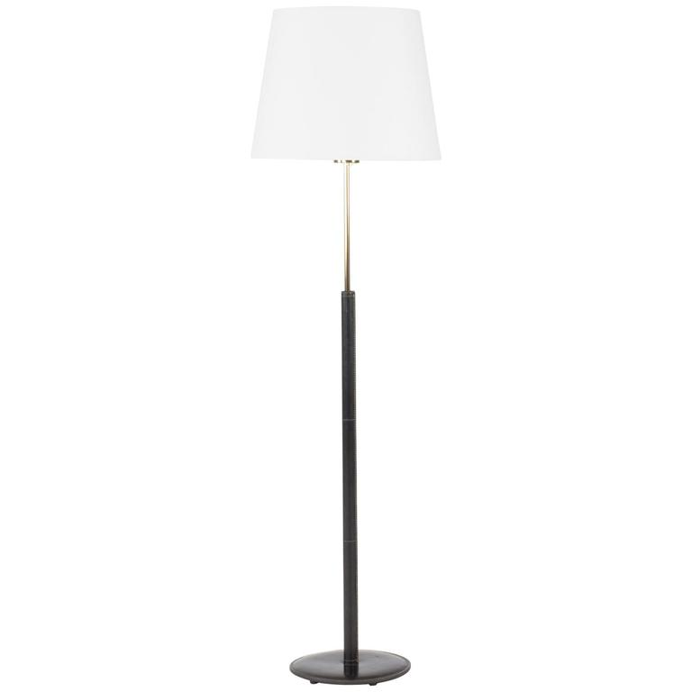 Black Leather Floor Lamp from Bergboms