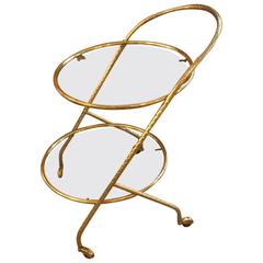 Italian Bar Cart in the Style Gabriella Crespi, 1960
