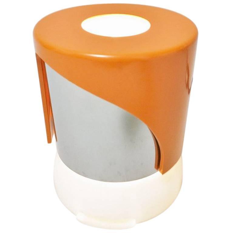 Orange Italian Lamp KD24 by Joe Colombo for Kartell, 1968