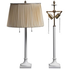 Pair of White Porcelain Table Lamps by KPM, Berlin, 1930s