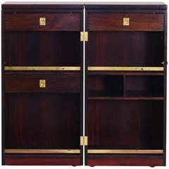 """Danish Modern Rosewood """"Captains Bar"""" Dry Bar by Reno Wahl Iversen for Dyrlund"""
