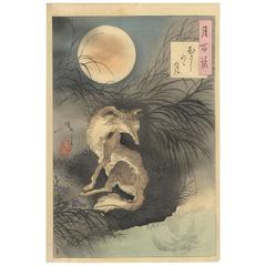 Yoshitoshi Tsukioka 19th Century Japanese Woodblock Print Ukiyo-E 100 Aspects