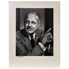 Yousuf Karsh Photographic Portrait Karl Pollak, circa 1960