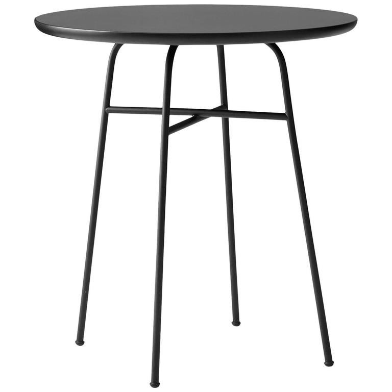 cafe table by afteroom powder coated steel frame durable black laminated top for sale at 1stdibs. Black Bedroom Furniture Sets. Home Design Ideas