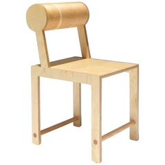 Waka Waka Contemporary Leaning Back Cylinder Wood Dining Chair