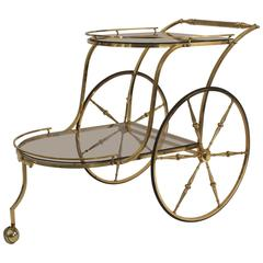 Italian Mid-Century Brass Bar Cart