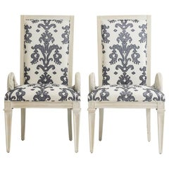 Pair of Dorothy Draper Style Armchairs